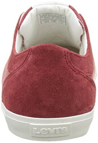 Woods Homme Bordeaux Dark Levi's Basses Rouge Baskets Udw7q