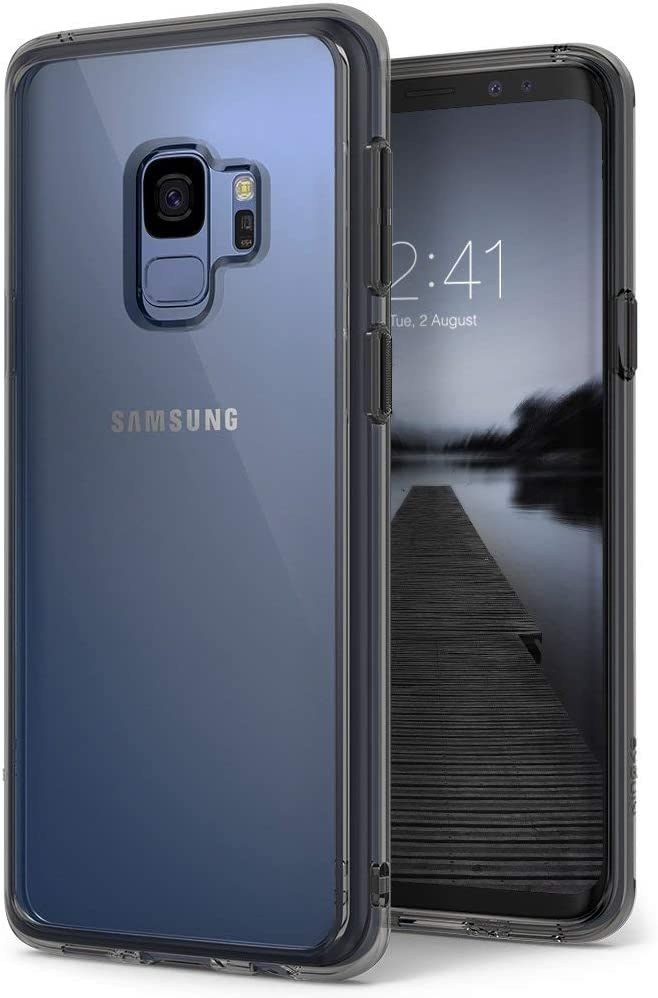 Ringke Fusion Compatible with Galaxy S9 Case Ergonomic Transparent (Drop Defense) PC Back Drop Protection Shock Absorption Cover for Galaxy S 9 (2018) - Smoke Black