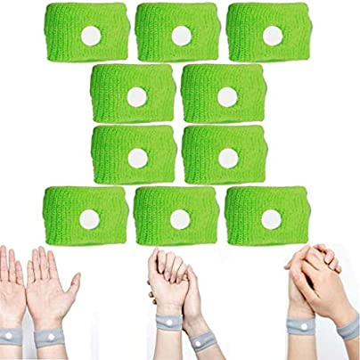 Vanproo Pack Green Anti Nausea Wrist Bands Acupressure Wristbands Sickness Bands Ideal for Holiday and Travel Pregnancy Gift Estimated Price £2.99 -