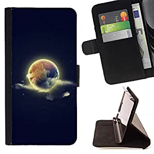 BETTY - FOR Samsung Galaxy S5 V SM-G900 - cool world earth sky space nature - Style PU Leather Case Wallet Flip Stand Flap Closure Cover