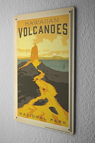 Tin Sign World Tour Hawaii Volcano National Park Metal Plate 8X12