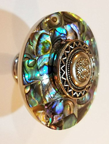 1 1/2 Inch Diameter Abalone Cabinet or Furniture Knob (Polished Chrome (Polished Copper Knob)