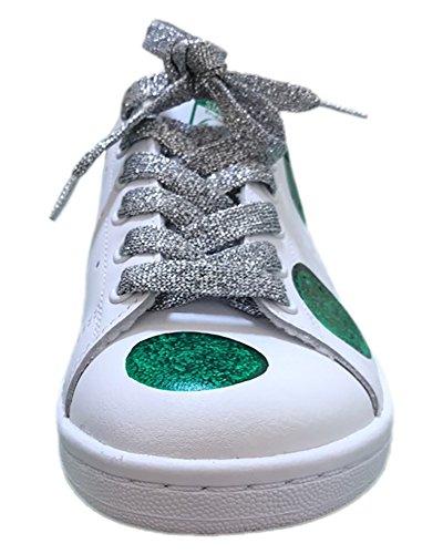 Pois Bianco Verdi Bianche Con Lacci E Argento Stansmith Glitter qvaZw