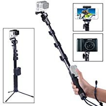 Smatree SmaPole Y2 Telescoping Pole with Tripod Stand for GoPro Hero 5/4/3+/3/2/1/Session (WiFi Remote Controller is NOT Included)