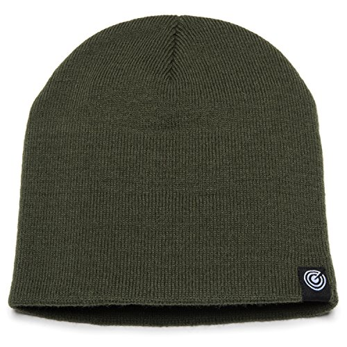 - Original Beanie Cap Soft Knit Beanie Hat Warm and Durable for Winter Forest Green One Size