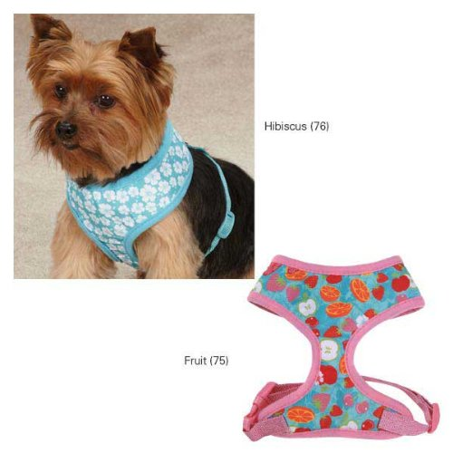 Hibiscus l Hibiscus l East Side Collection Fruit Frenzy Dog Harness, Large, Hibiscus