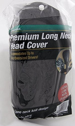 World of Golf Premium Long Neck Head Cover Black by Golf Gifts & Gallery (Image #1)