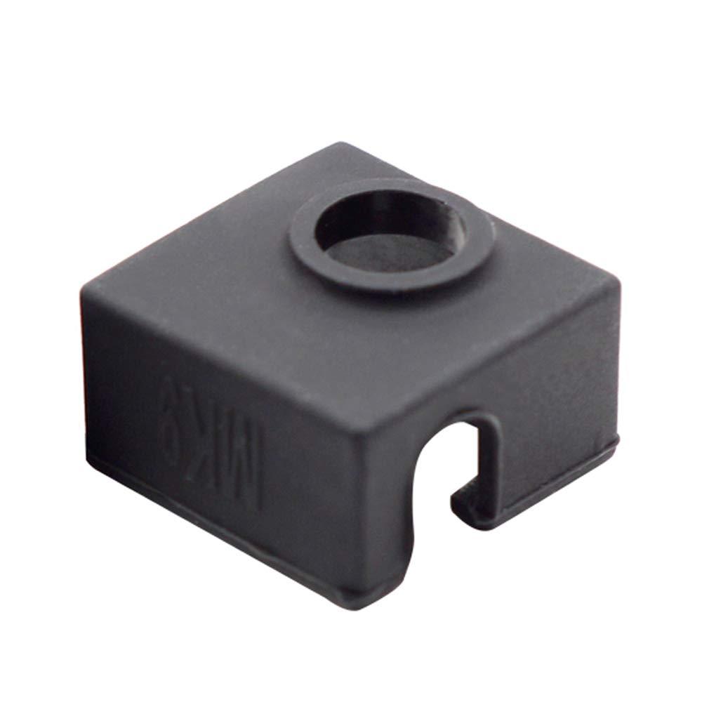colore nero Tampone riscaldante in silicone per stampante 3D MK7 MK8 MK9 Hotend per Ender 3 Creality CR-10 10S S4 S5 ANET A8