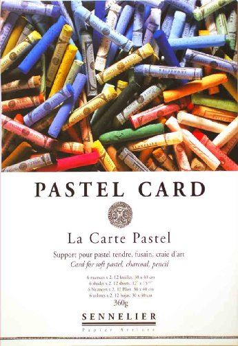 Sennelier La Carte Pastel Pad 12x16 2 Sheets of 6 Colors