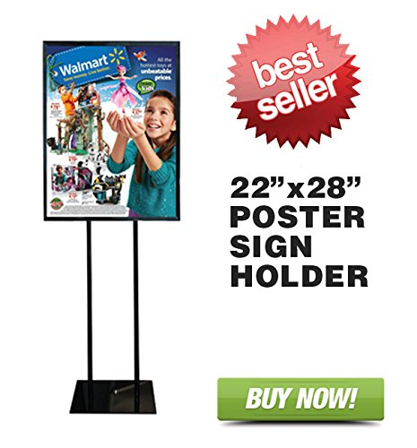"Floor Standing Poster Display Stand Sign Holder 22"" X 28"" Black hot sale"
