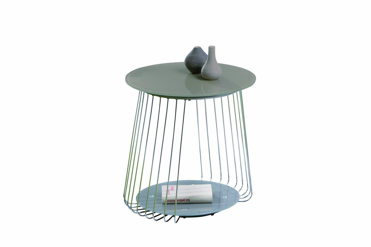 Links - Think Design, Tavolino da salotto Rivoli, diametro 50 cm, vetro, colore: Cappuccino 50100160 F00010601046_Cappuccino
