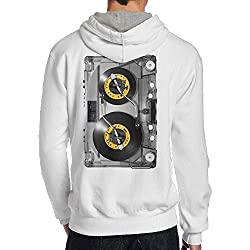 Paule-T Men's Retro Nonstop Play Tour Particular Hoodie Hoodies S White