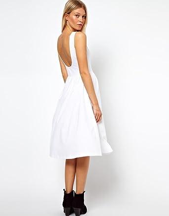 f0ec6830aa26 ASOS Midi Fit and Flare Dress with Scoop UK SIZE-8  Amazon.co.uk  Clothing