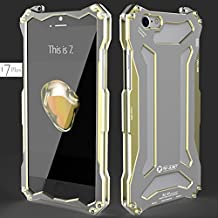 Luxury For iPhone 7 Plus Phone Case, R-JUST Gundam Shockproof Dropproof Aluminum Metal Protection Mechanical Armor Back Cover For Apple 7 Plus 5.5 Inch (Gold)