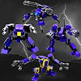 Mecha Series Fit for Mobile Frame Zero Game- Seller¡¯s Designs Fit for Legos Little Robot Set Building Block Parts (GuardTeamPurple)