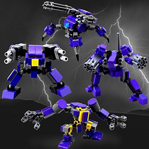 Mecha Series DIY Building Block, Seller Unique Design fit for Mobile Frame Zero Game ,Compatible with Lego Little Robot Set(GuardTeamPurple)