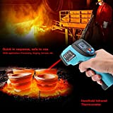 GM550 Digital Infrared IR Thermometer Temperature Tester Pyrometer LCD Display +Backlight -50~550 Centigrade Degrees Blue