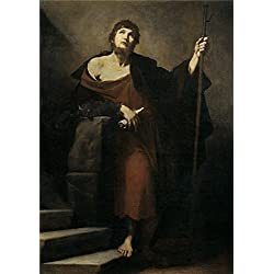 High Quality Polyster Canvas ,the Reproductions Art Decorative Prints On Canvas Of Oil Painting 'Ribera Jose De Santiago El Mayor 1631 ', 10 X 14 Inch / 25 X 36 Cm Is Best For Foyer Gallery Art And Home Gallery Art And Gifts