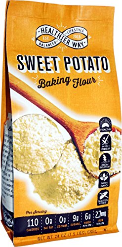 Healthier Way Gluten Free Sweet Potato Flour, 24 oz. by Healthier Way