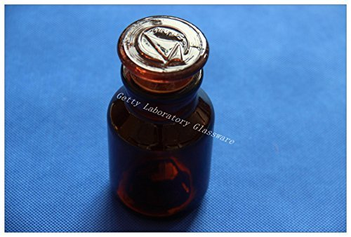 125ml Amber Brown Lab Glass Reagent bottle, wide mouth, with ground stopper Beijing Getty Laboratory Glassware Co.