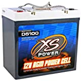 XS Power D5100 3100 Amp AGM Power Cell Car Audio Battery + Terminal Hardware