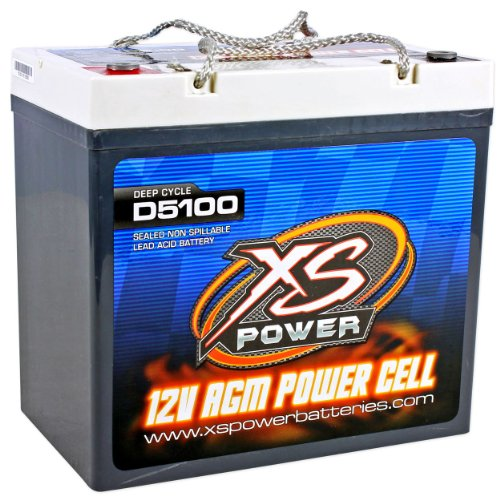 XS Power D5100 3100 Amp AGM Power Cell Car Audio Battery + Terminal Hardware by XS Power