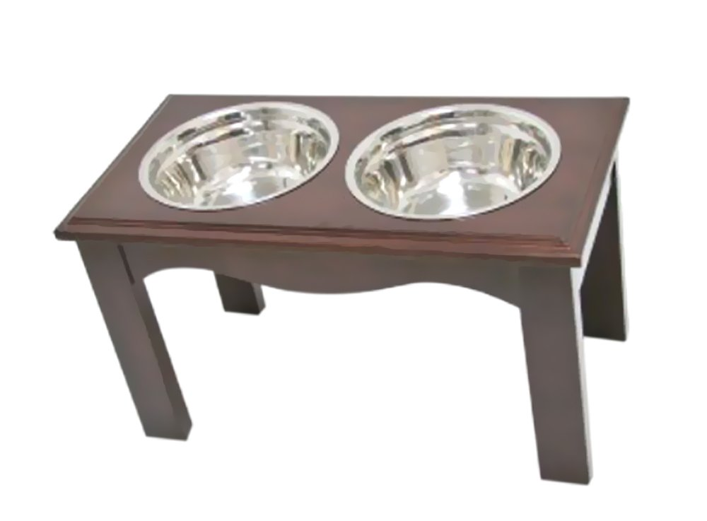 Crown Pet Products Pet Diner Elevated Raised Dog Bowls, Large, Expresso