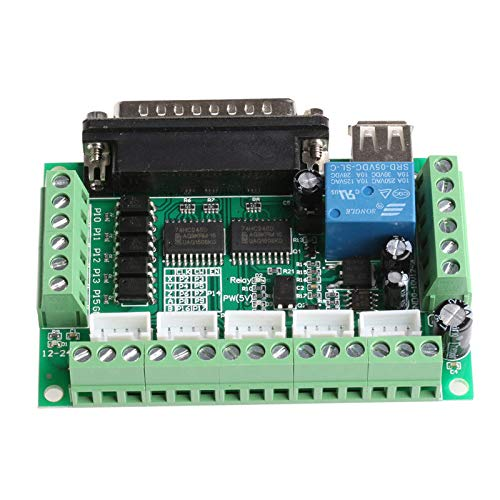 Ants-Store - 5 Axis CNC Breakout Board With Optical Coupler For Stepper Motor Driver MACH3 Usefull Motor Controller (Best Stepper Motor Controller)