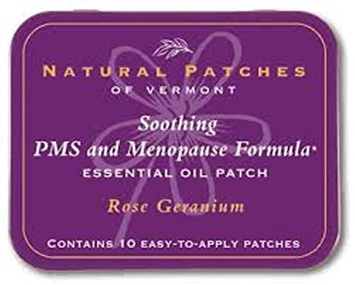Natural Patches of Vermont Essential Oil Patches Rose Geranium, Menopause & PMS Discomfort 10 count tins (Best Essential Oils For Pms)