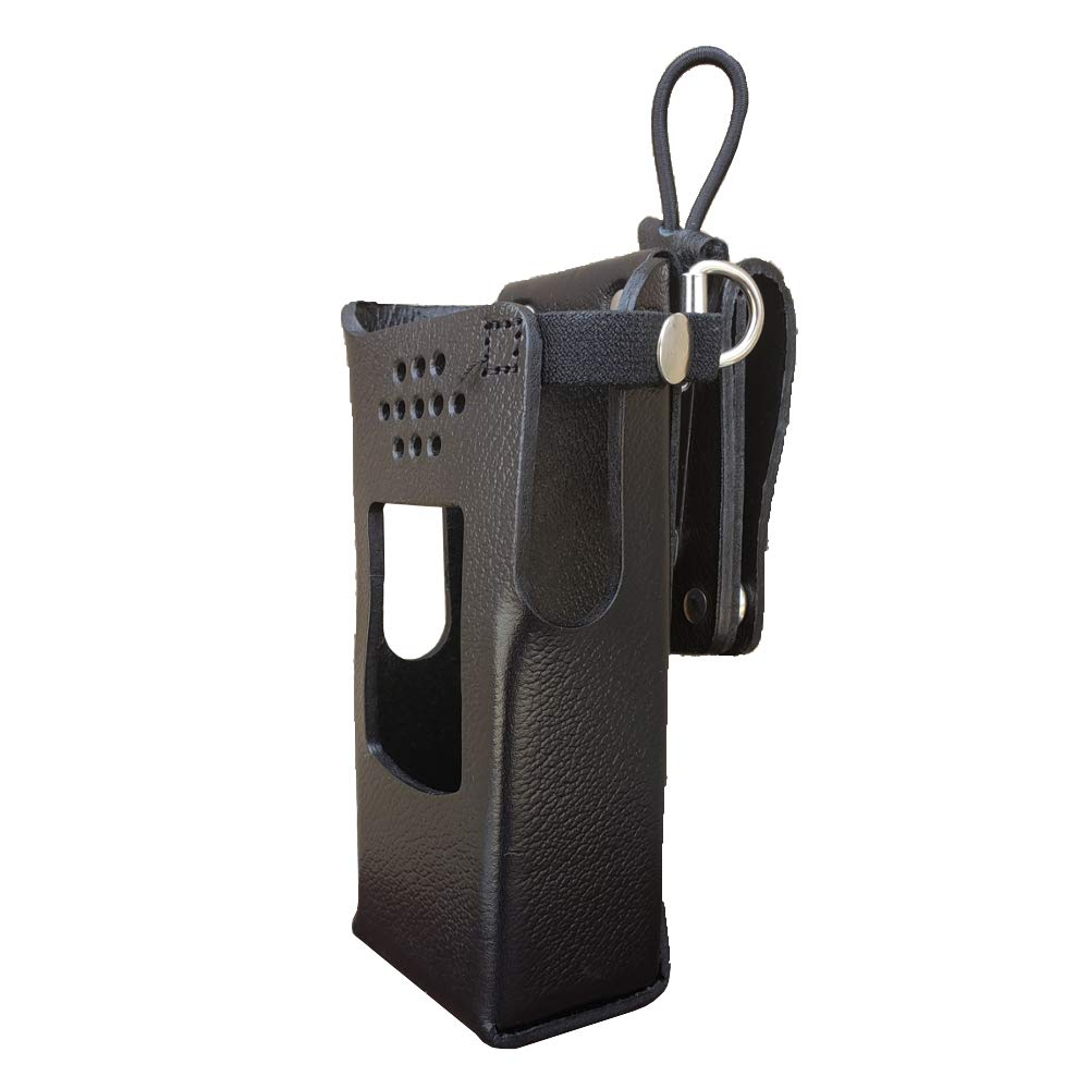 Case Guys GE7325-3AXD Hard Leather Swivel Belt Loop Holster Case with Antenna Loop for Harris XL-200 Two Way Radios