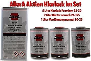 Allora Aktion Premium Klarlack Härter Einstellzusatz Set Niveaset Zugabe Auto