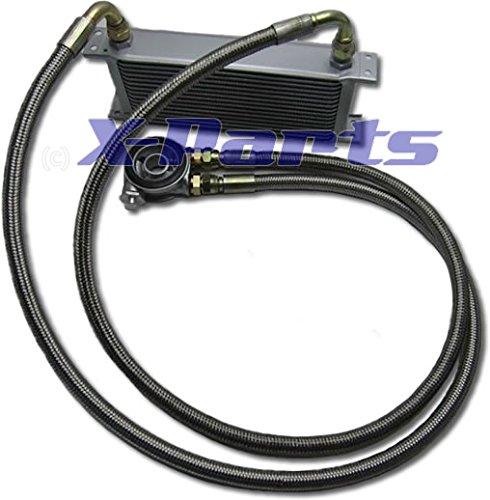 19 Row Oil Cooler Connection Set Steel Flex + Termostato 16 V R32 Turbo clet: Amazon.es: Coche y moto