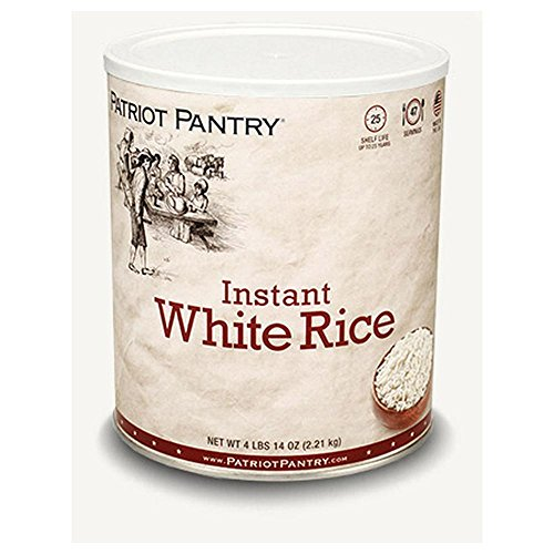 Patriot Pantry Instant White Rice (47 servings) #10 Can Bulk Emergency Storage Food Supply, Up to 25-Year Shelf Life by Patriot Pantry