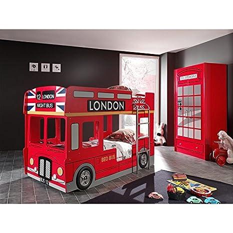 Letto A Castello In Inglese.Paris Prezzi Pack Letto A Castello Bambini Bus Armadio 2 Ante