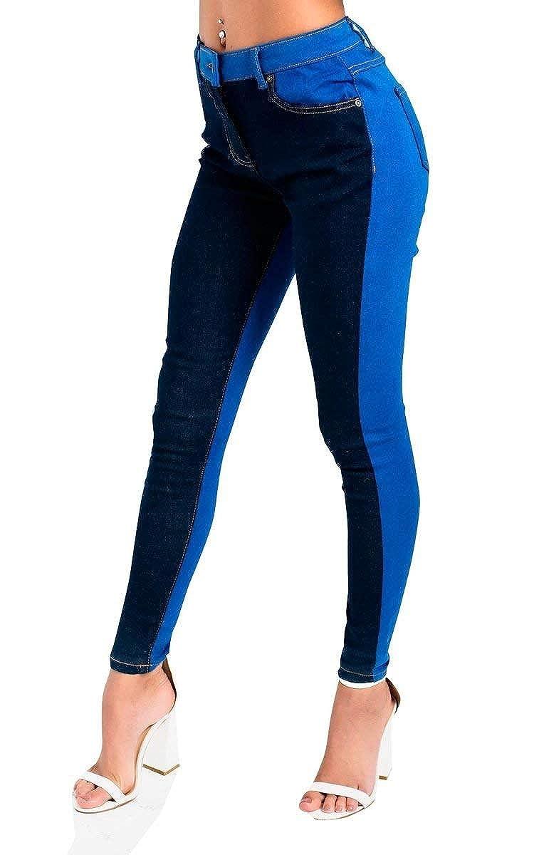 IKRUSH Kira Colour Block Skinny Jeans