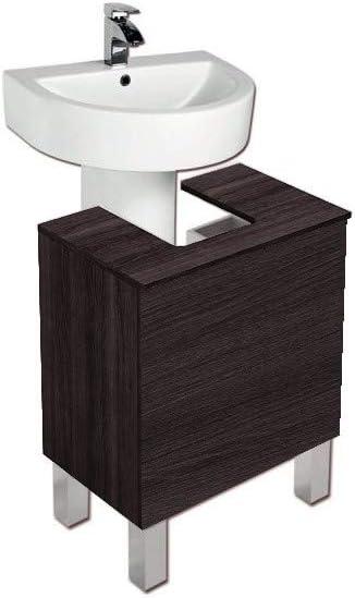 PDM Mueble DE BAÑO para Lavabo con Pedestal Roble Sinatra: Amazon ...