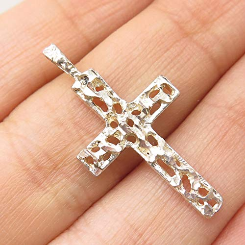 VTG 925 Sterling Silver Religious Cross Slide Pendant Jewelry by Wholesale Charms