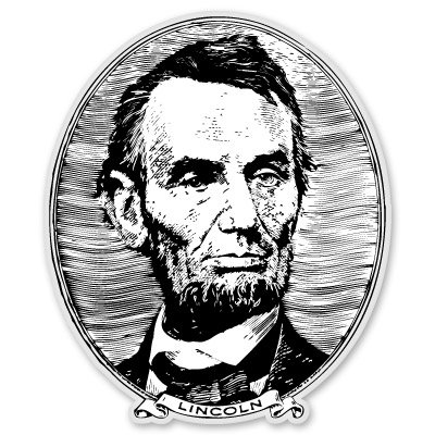 lincoln window decal - 2