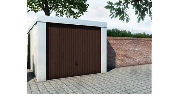 Cada garaje 2,63 x 5,27 x 2,18 m marrón con la entrada de Hörmann ...
