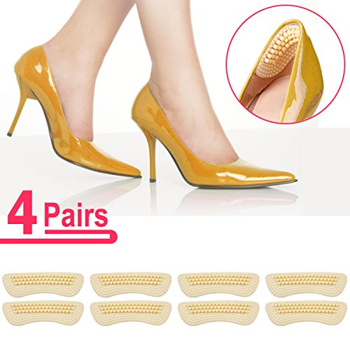 Heel Pads SMATIS 4 Pairs Heel Cushions Inserts for Womens New Shoes High Heels Preventing Heel Rubbing and Blisters and Slip Out. (High Shoes Heel Slip)
