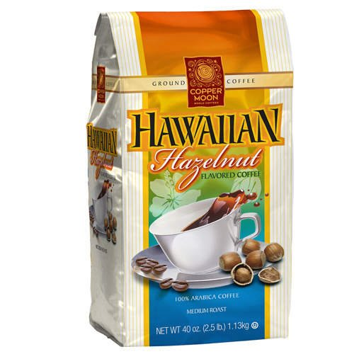 Copper Moon World Coffees Hawaiian Hazelnut -2.5lb - CASE PACK OF 4 by Copper Moon