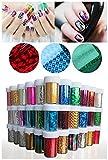 XICHEN® 48 Colors Starry Sky Stars Nail Art Stickers Tips Wraps Foil Transfer Adhesive Glitters Acrylic DIY Decoration 48PCS 48 Colors Each volume Specification 4cm*100cm