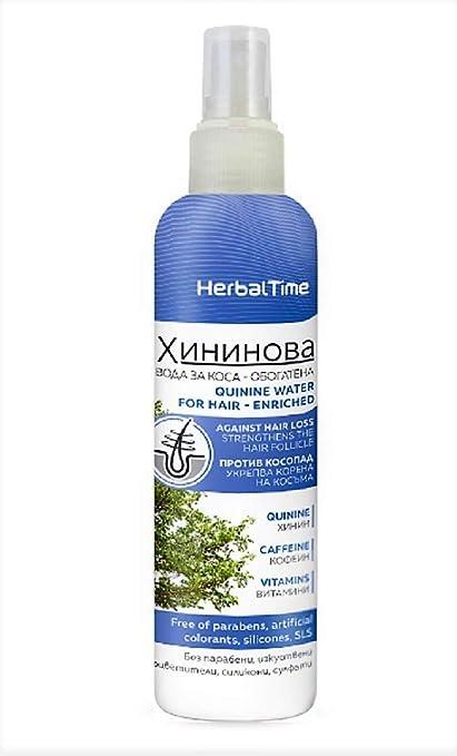 Agua Capilar de Quinina Tratamiento Anticaida de Cabello Sin Parabenos Sin Siliconas Sin Sulfatos