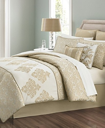 Martha Stewart Collection Versailles Tile 6 Piece Twin Comforter Set Bedding - Versailles Quilt
