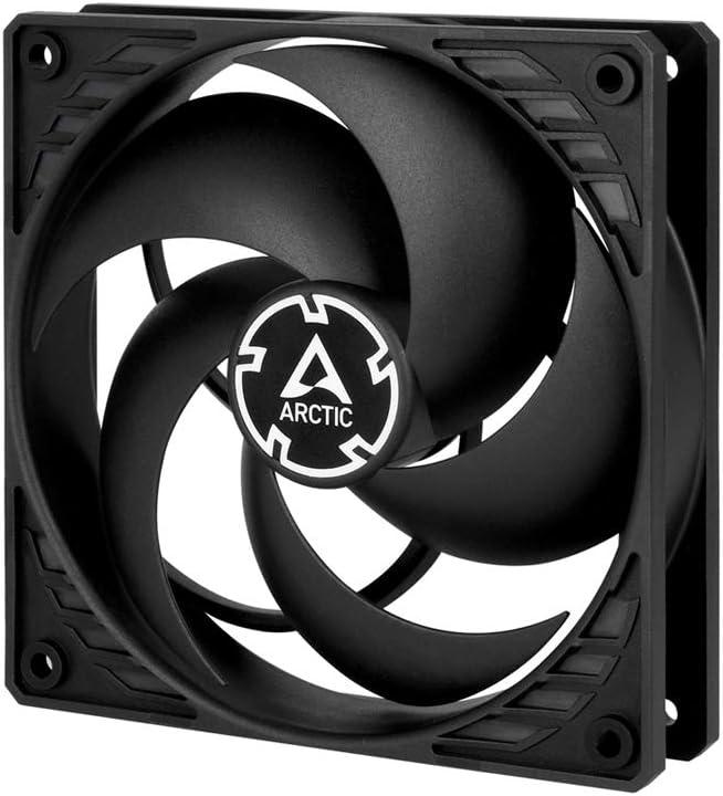 ARCTIC P12 PWM PST - 120 mm Ventilador de Caja para CPU con PWM Sharing Technology (PST), Motor Muy Silencioso, Computadora, 200-1800 RPM - Negro/Negro
