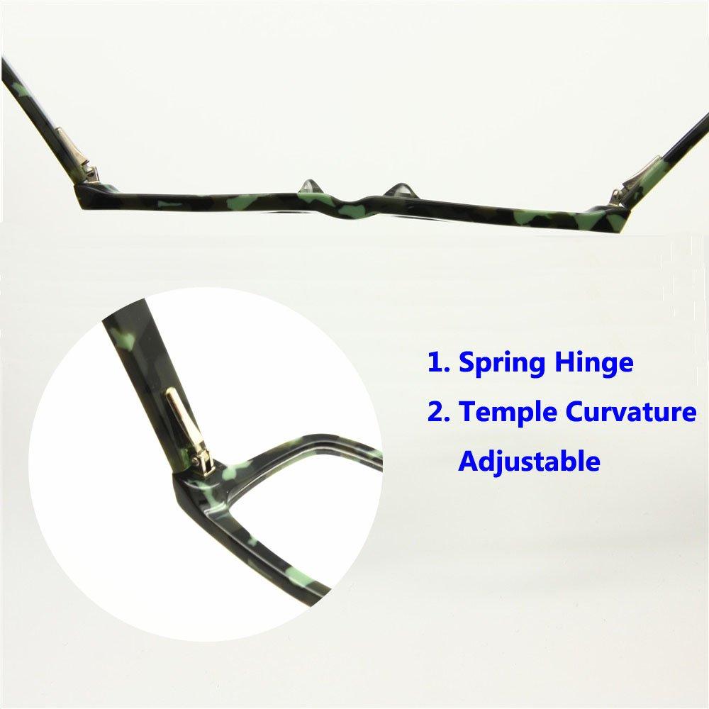 154e3c0ef86 Amazon.com  EnzoDate Size 46-18-130 Boys Girls Children Optical Eyeglasses  Frames Spring Hinge Student Acetate Frame Age 6-8 (camouflage green)   Health ...