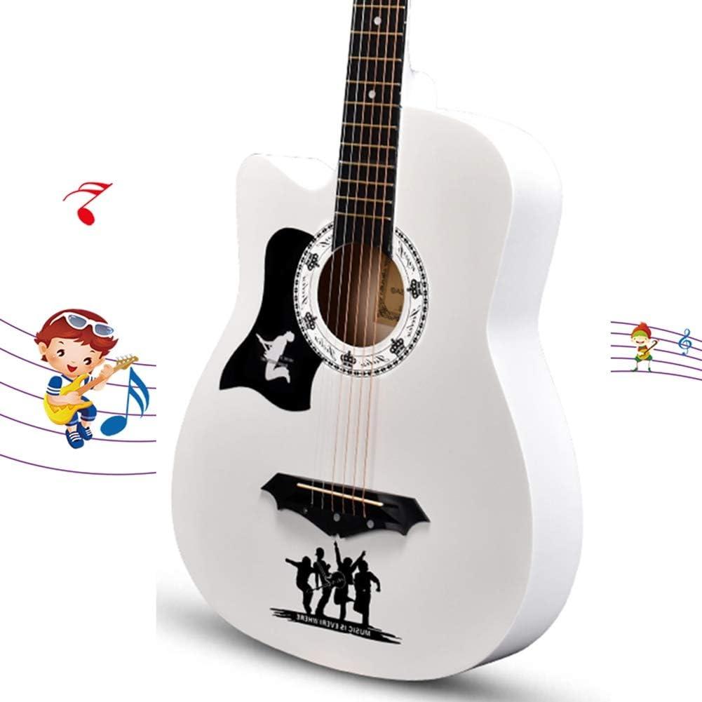 YJFENG-Guitarra Acústica, 38 Pulgadas De Tono Suave Y Brillante Guitarra Popular Principiante Hombres Y Mujeres Estudiantes De Entrada Practican Estudiantes De Guitarra De Madera