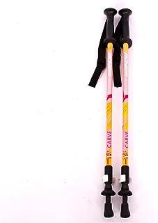 Randonnée Bâton en fibre de carbone Escalade Bâtons de ski ultra-léger de carbone Safe Cane 2 Section réglable Bâtons Bâton de marche en plein air pour les enfants Alpenstock enfants