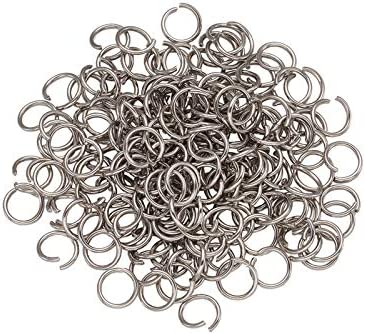 200 Stainless Steel Open Jump Rings 4-9mm Split Ring For Jewlery Making Findings
