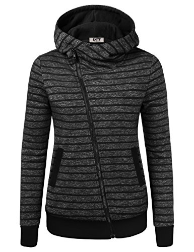 - Women's Stripe Pocket Sweatshirt, Winter Fall Casual High Neck Jacket Pocket Oblique Zipper Hooded Blouse Top Sweatshirt Dark Grey 2XL